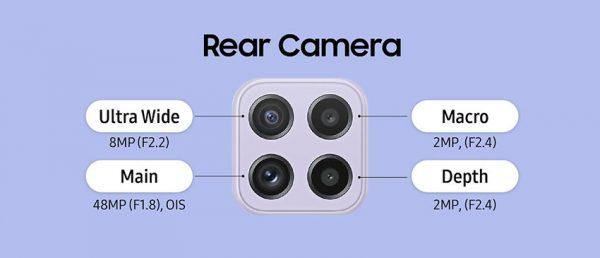 دوربین گلکسی ای 22 فور جی