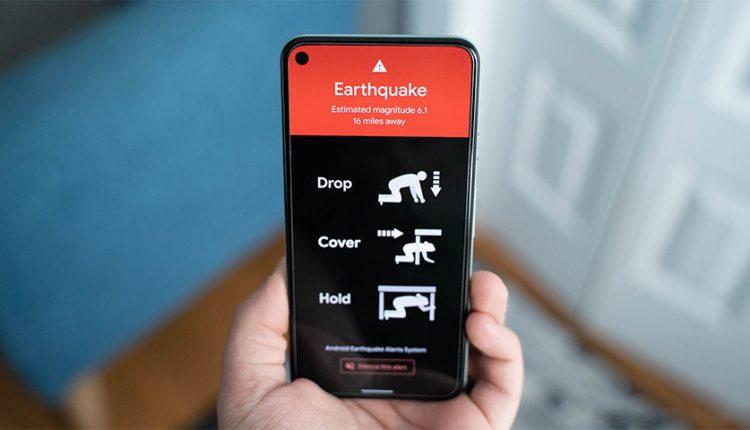 سیستم هشدار زلزله اندروید