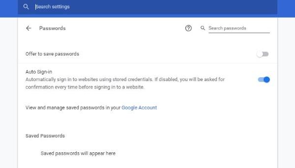 حل مشکل ذخیره نشدن پسووردها در گوگل کروم