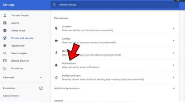 آموزش غیرفعال کردن اعلان ها و نوتیفیکیشن ها در گوگل کروم 22