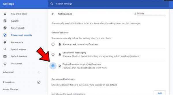 آموزش غیرفعال کردن اعلان ها و نوتیفیکیشن ها در گوگل کروم 23