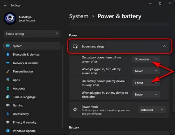 چگونه تنظیمات Power Mode را در ویندوز 11 تغییر دهیم؟