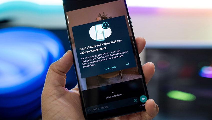 آموزش ارسال عکس و ویدیوی یکبار مصرف در واتساپ