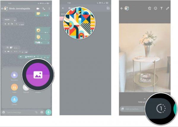 آموزش ارسال عکس و ویدیوی یکبار مصرف در واتساپ 2