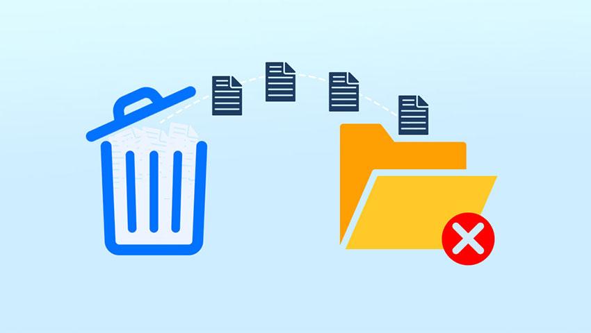 حذف فایل ها و پوشه ها در ویندوز 10