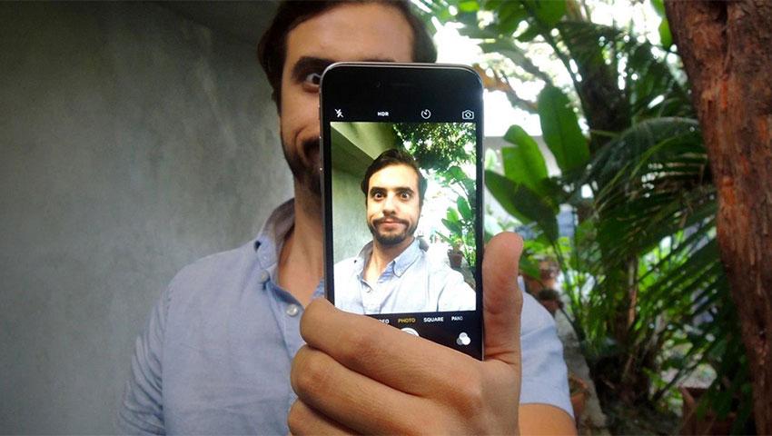 عکس سلفی با دوربین پشتی