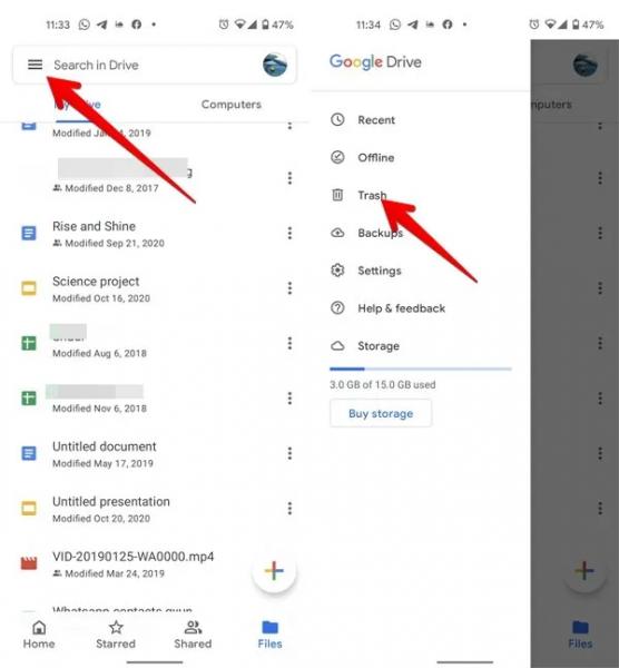 آموزش حذف فایلها از گوگل درایو (PC و موبایل)