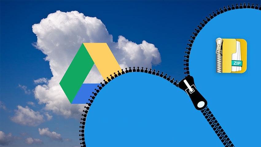 باز کردن فایل های فشرده در گوگل درایو
