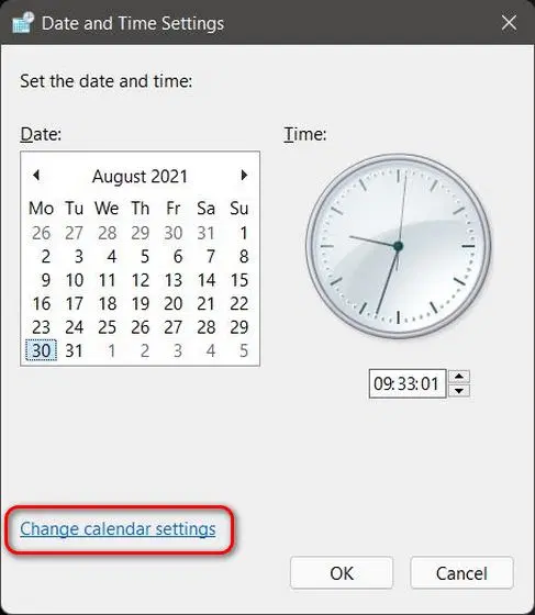 آموزش تغییر تاریخ و ساعت در ویندوز 11