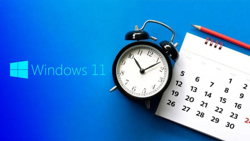 تغییر تاریخ و ساعت در ویندوز 11